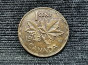 Canada, George VI, One Cent 1943, VF, AN59